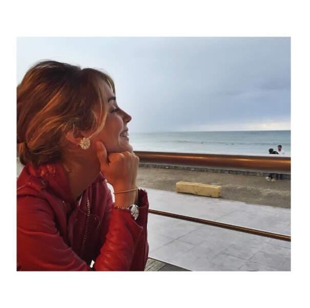 L'actrice Alice Isaaz était trop heureuse d'être à Biarritz.