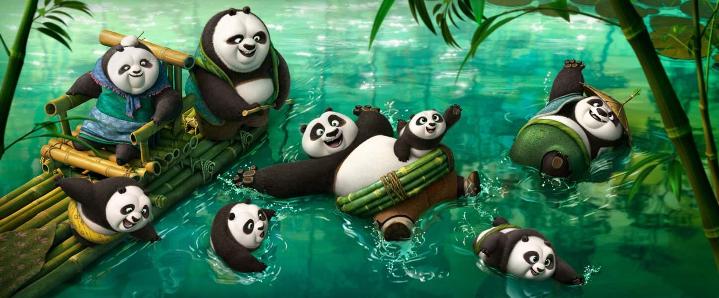 Po en famille dans Kung-Fu Panda 3 (30/03)