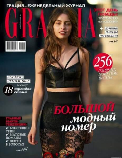Et tout récemment en Une de l'édition russe de Grazia !