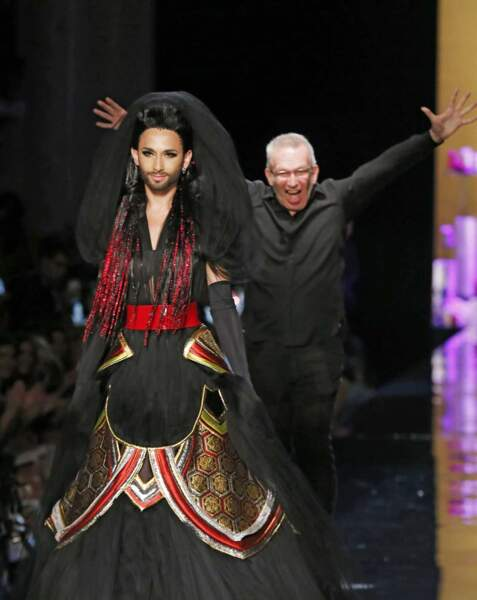 Fier de Conchita, Jean-Paul Gaultier exprime sa joie