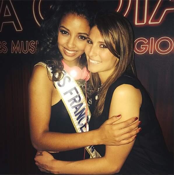 Flora Coquerel, Miss France 2014, a fêté son anniversaire en compagnie de Laury Thilleman...