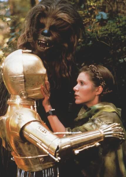 Leia, Chewbacca et C3PO au coeur de la bataille du Retour du Jedi