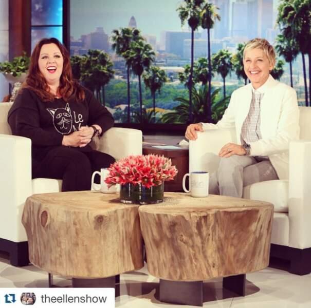 """En tout cas, une excellente cliente pour le """"Ellen DeGeneres Show"""", incontournable lors des promos !"""