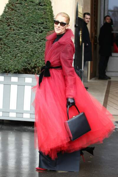 Même si ce manteau rouge en tulle XXL n'est pas mal non plus ...