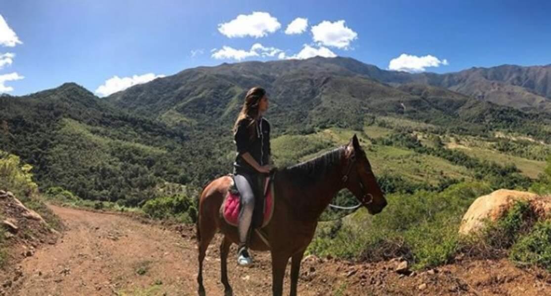 ... Puis promenade en cheval