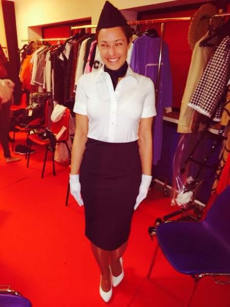 Natasha St-Pier en hôtesse de l'air pour Les Enfoirés 2014