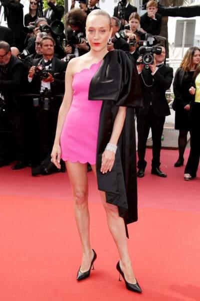 Chloe Sevigny en mini robe robe bonbon