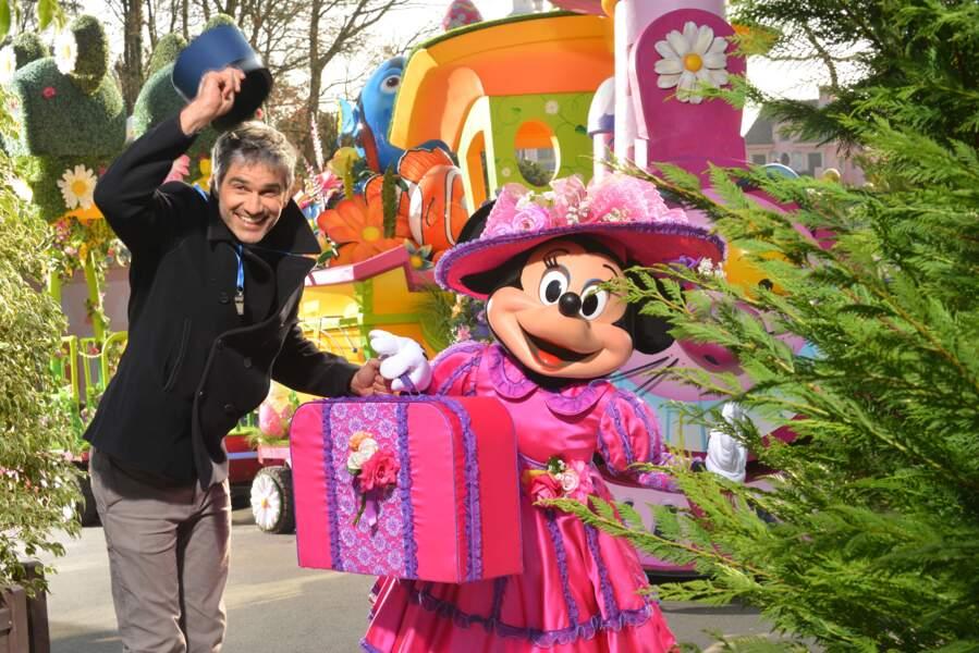 François Vincentelli fête le printemps à Disneyland Paris