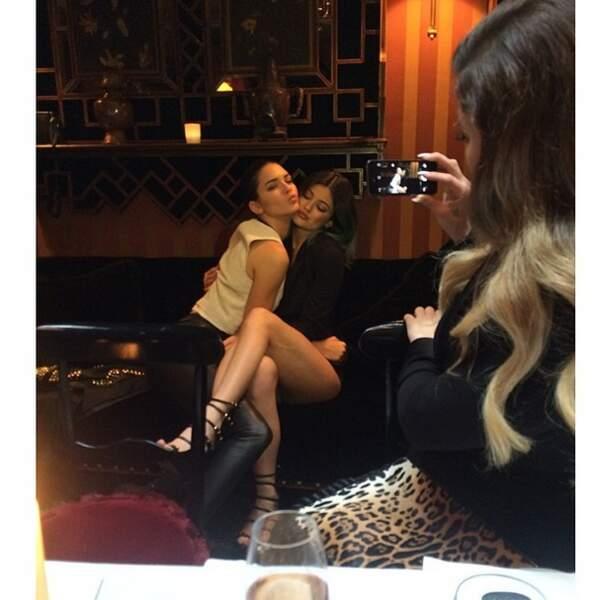 Grosse ambiance du côté des soeurs de Kim : Kendall et Kylie !