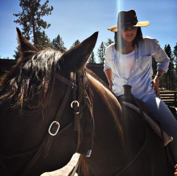 Et Mariska Hargitay, notre policière préférée dans New-York Unité Spéciale, qui a fait un break dans le Montana.