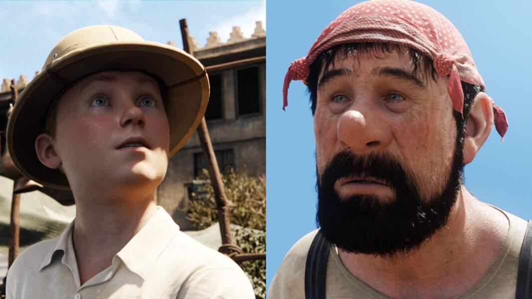 Jamie Bell est Tintin, Andy Serkis le capitaine Haddock