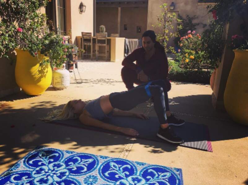 Renforcement musculaire pour Lady Gaga...