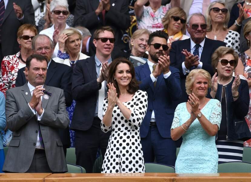 Tradition oblige, la duchesse de Cambridge est venue à WImbledon
