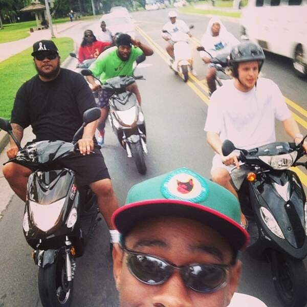 Le selfie de groupe avec Tyler The Creator et ses copains