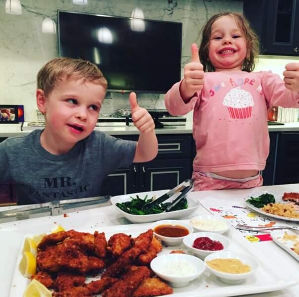 Et l'astuce du mari de Neil Patrick Harris pour rendre leurs jumeaux happy : des nuggets maison !