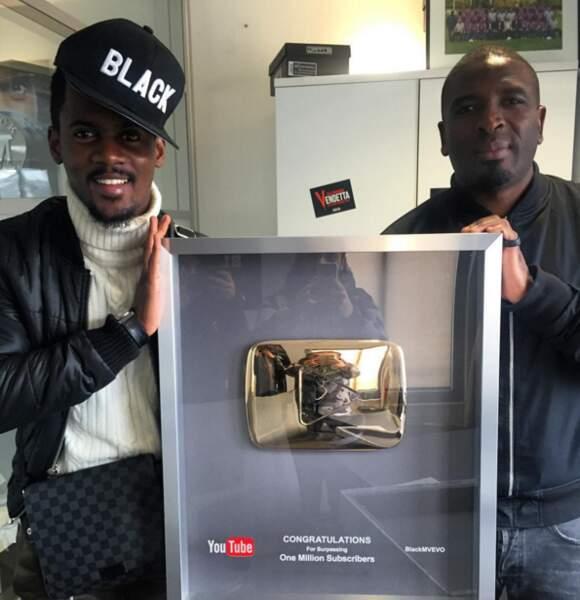 Black M fête ses 1 millions de followers sur Youtube