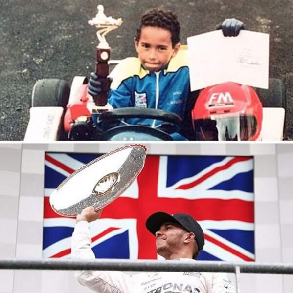 En fait, Lewis Hamilton est habitué aux trophées depuis sa plus tendre enfance