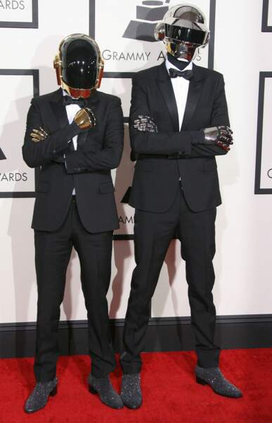 Et les grands gagnants de la cérémonie, les Daft Punk ! Cocorico !