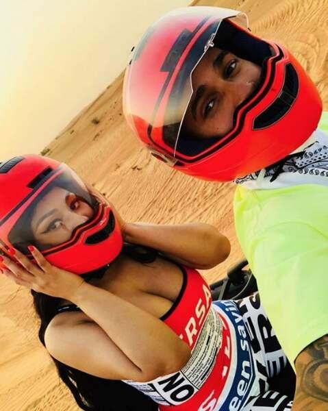 Nicki Minaj et Lewis Hamilton ont choisi le quad.