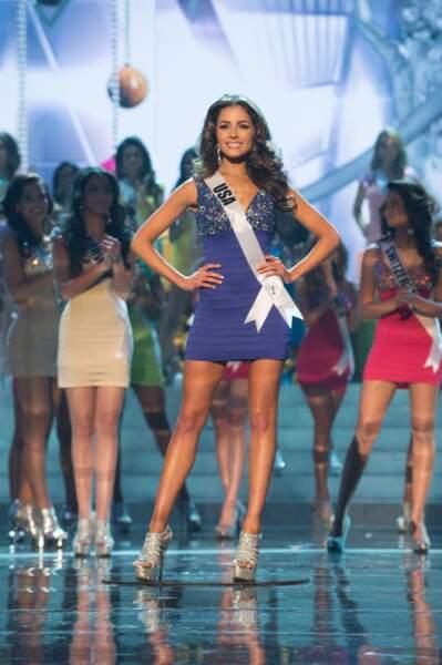 Olivia Culpo, Miss USA 2012, ne sait pas encore que dans quelques minutes, elle sera élue Miss Univers 2012