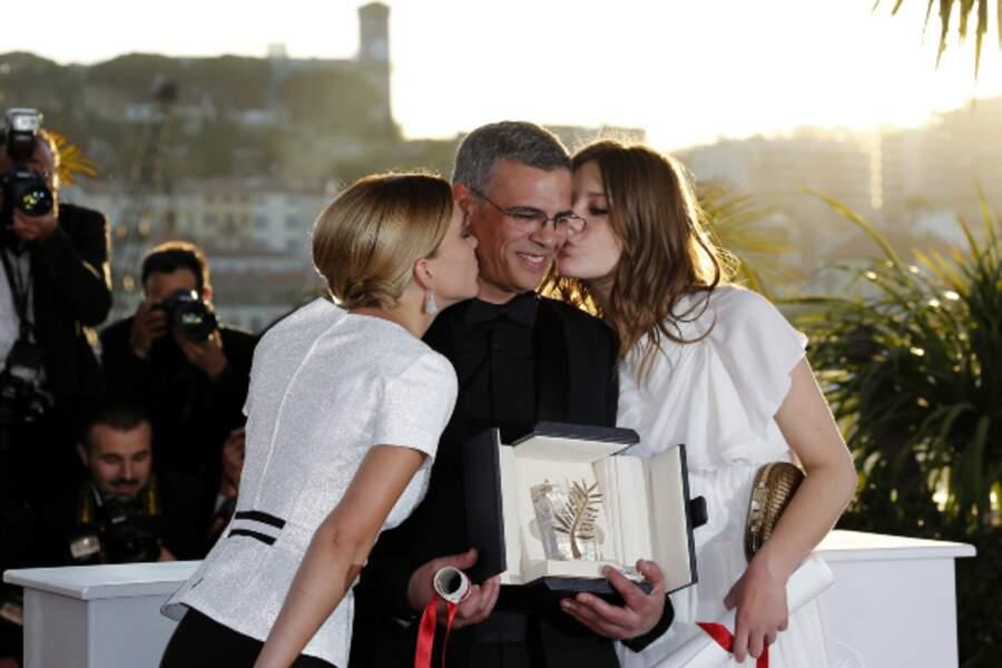 Décidément Abdellatif Kechiche aura eu sa part de baisers ce soir !