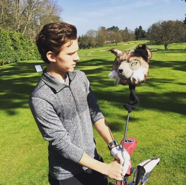 Le club de golf de Tom Holland a une drôle de tête