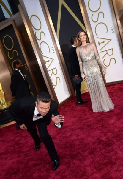 Angelina Jolie et Brad Pitt comme à la maison sur le tapis rouge des Oscars