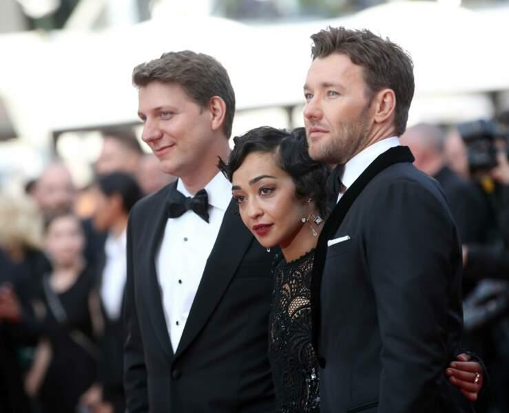 Les stars de la soirée : le réalisateur de Loving, Jeff Nichols (à g) et ses acteurs Ruth Negga et Joel Edgerton