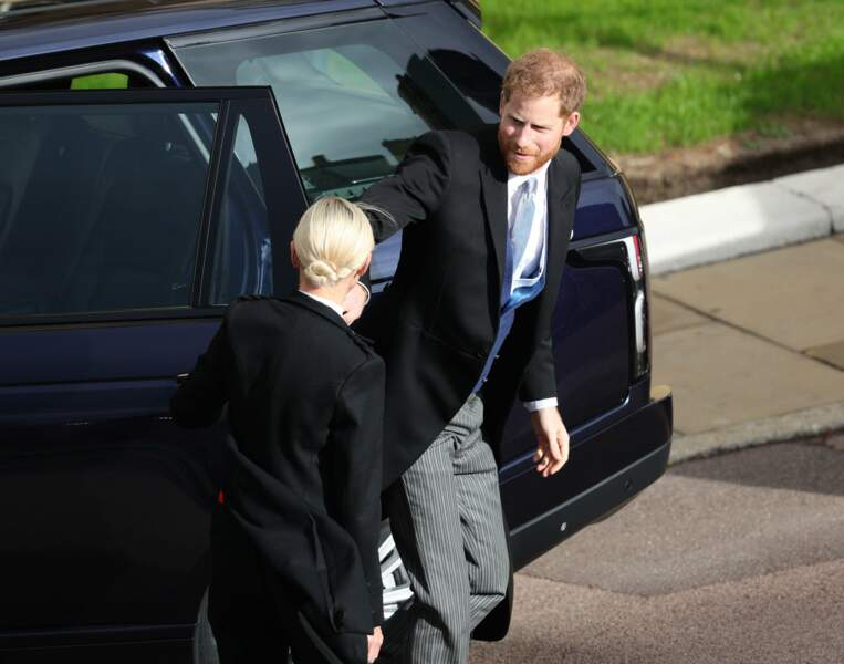 Le prince Harry arrive au mariage de sa cousine