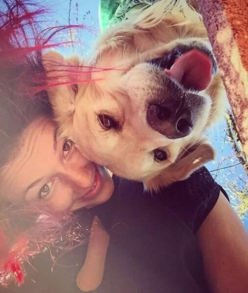 Sans oublier Delphine Wespiser, grande amie des animaux.