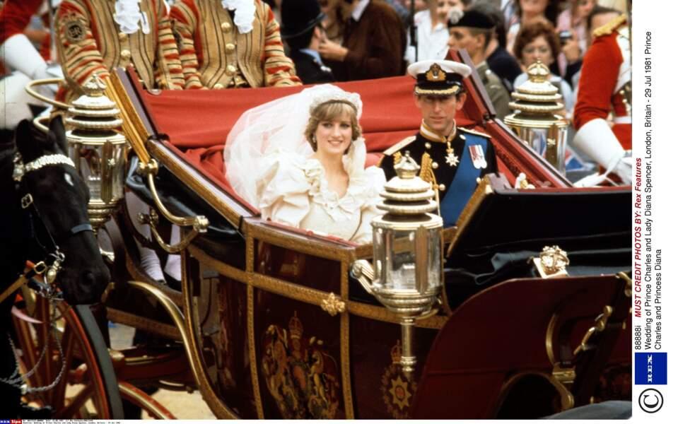 """Le 29 juillet 1981, leur """"mariage du siècle"""" a lieu à la cathédrale St Paul de Londres"""