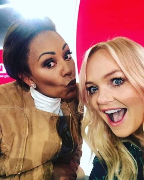 Emma Bunton des Spice Girls a posé avec sa sœur de cœur, qui n'est autre que Mel B.
