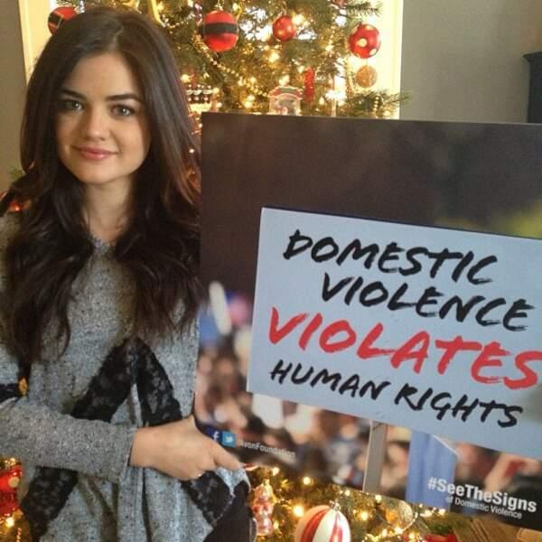 Elle s'insurge également contre les violences domestiques.