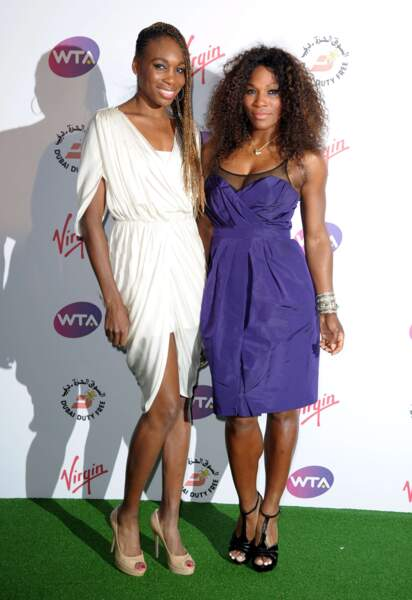 Passion tennis : Venus et sa petite soeur Serena Williams.