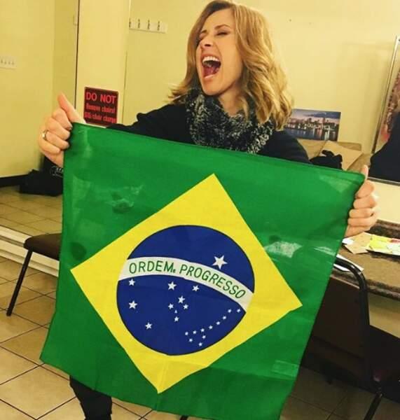 Et Lara Fabian est hystérique à l'idée de monter prochainement sur scène au Brésil.
