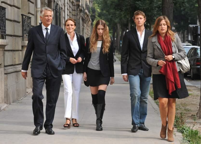 La famille de Villepin au complet en 2009