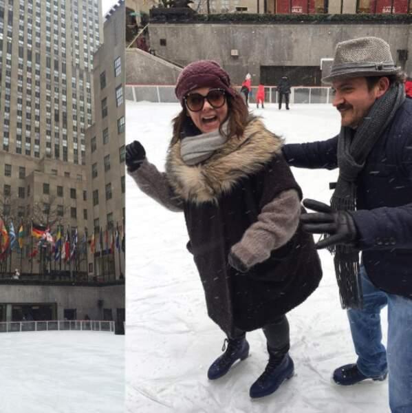 Patinage et fous rires new-yorkais sur la Rockefeller Plaza !