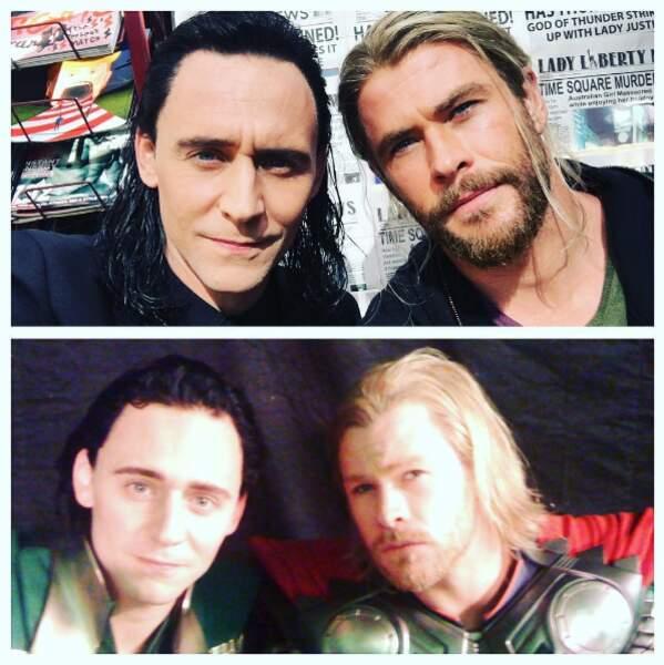 Frères ennemis sur grand écran et amis à la ville, Tom Hiddleston et Chris Hemsworth ont bien changé depuis Thor 1
