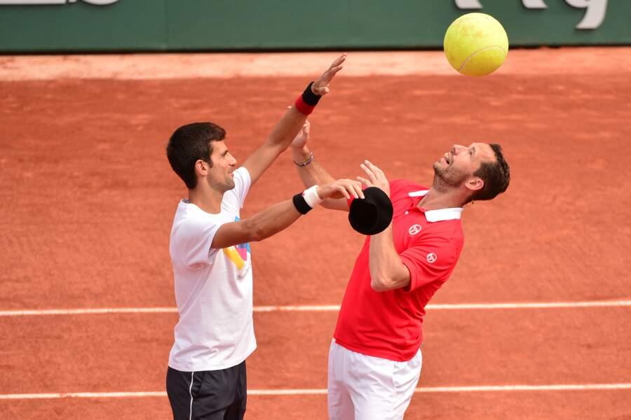 Djokovic et Llodra ont visiblement pris la grosse balle