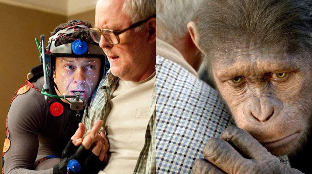 Andy Serkis incarne César, dans La planète des singes : les origines (2011)