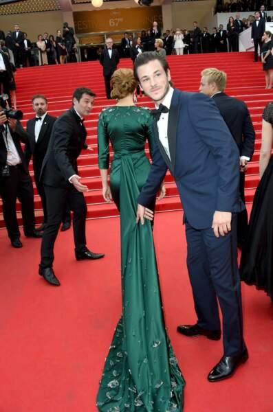 La longue longue traîne de Léa Seydoux : heureusement que Gaspard Ulliel est là pour la tenir !