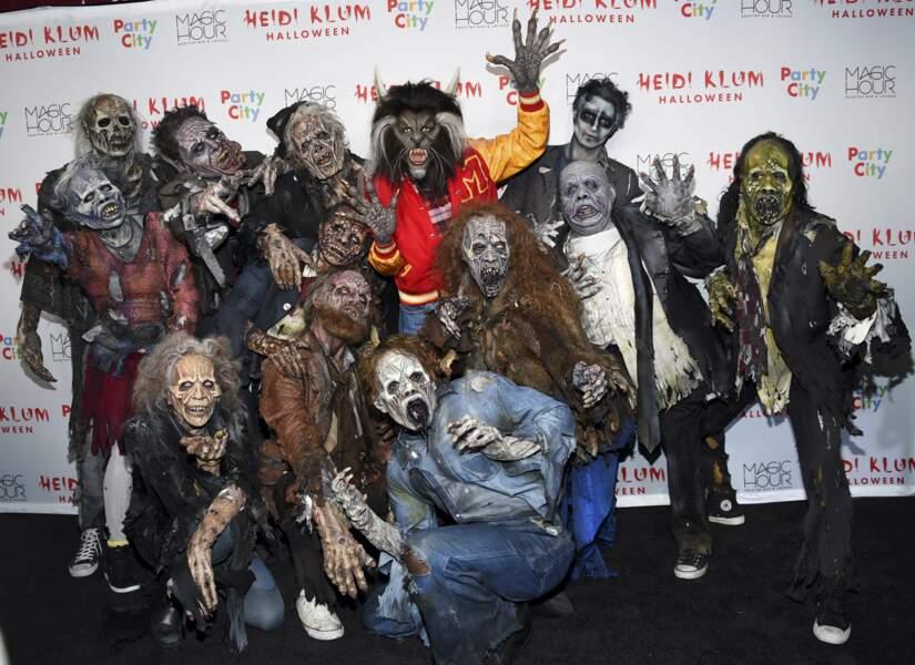Pour sa 18e soirée Halloween à New York, la top-model a recréé le clip de Thriller, de Michael Jackson