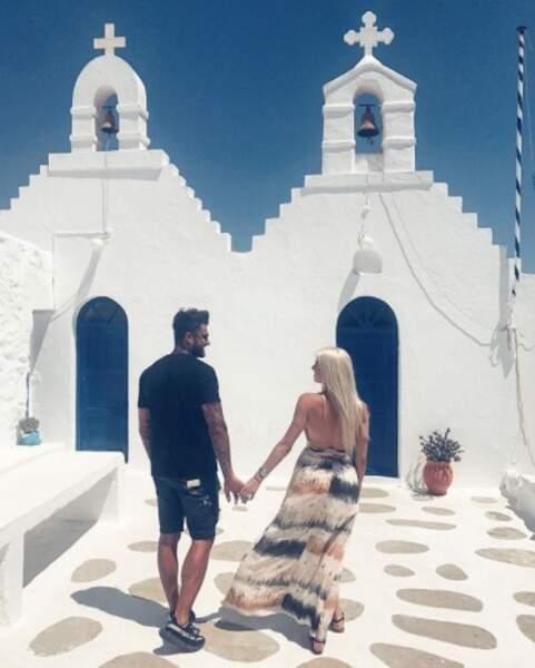 Jessica Thivenin et son Thibault Garcia ont découvert Mykonos.