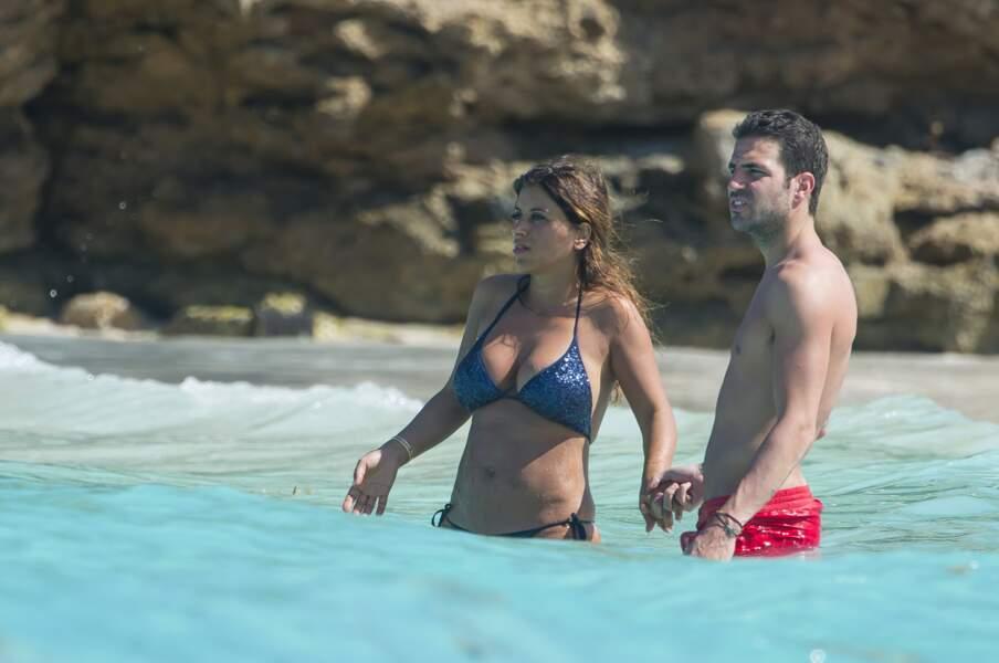 Le footballeur Cesc Fabregas et son épouse Daniella Semaan.