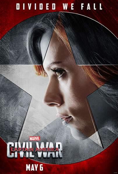 Natasha Romanoff alias La Veuve Noire (incarnée par Scarlett Johansson)