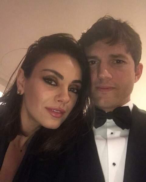 Ashton Kutcher (avec sa femme Mila Kunis, né le 7 février 1978