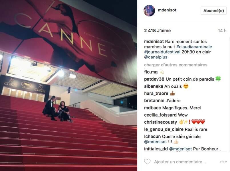 Instant confidences entre Michel Denisot et Claudia Cardinale