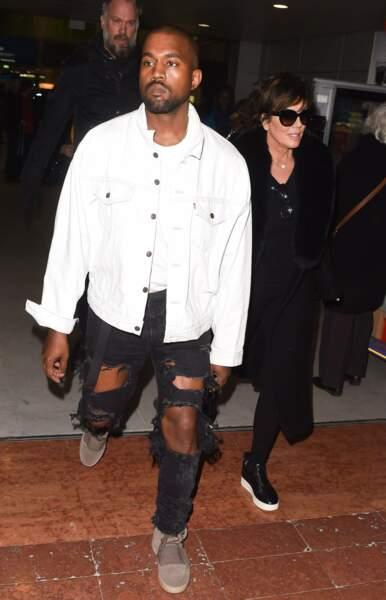 Kanye West et sa belle mère Kris Jenner