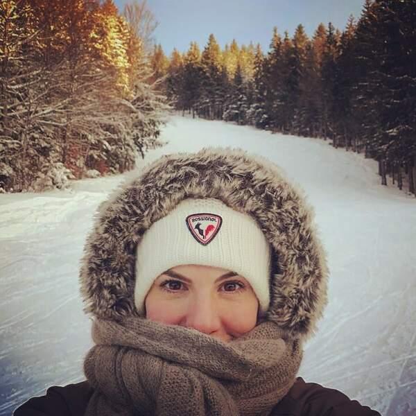 Emilie Besse aime aussi le grand froid, la preuve !