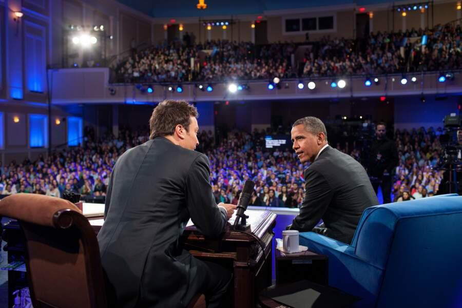 En avril 2012, Barack Obama est invité chez Jimmy Fallon